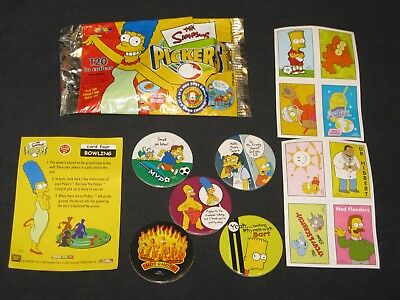 Simpsons Pickers Opened Packet + Tazos