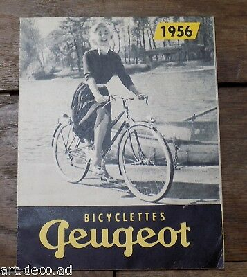 Brochure Publicité  Bicyclette PEUGEOT velo de course Cycle vintage 1956 - 8j