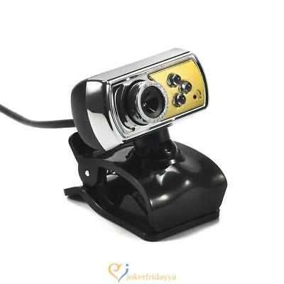 HD USB Webcam Camera 12.0MP 3 LED with Mic and Night Vision for PC Computer UK