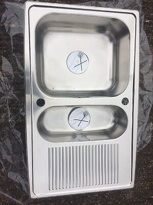 Stainless Steel 1.5 Bowl Reversible Drainer Kitchen Sink