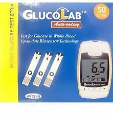 GlucoLab Glucose Auto-coding test strips 50 pack