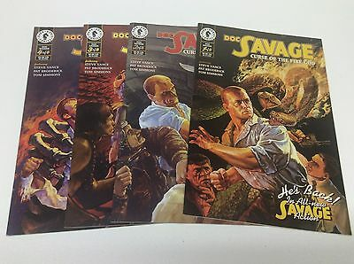 Doc Savage Curse Of The Fire God #1-4 (Dark Horse/0616212) Coplete Set Lot Of 4
