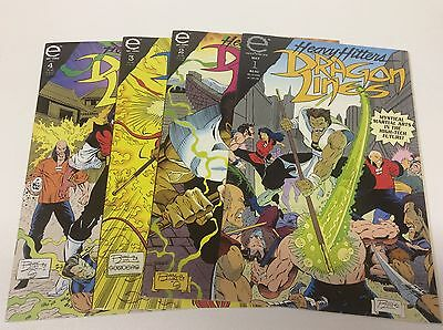 Dragon Lines #1-4 (Epic/heavy Hitters/ron Lim/0616219) Complete Set Lot Of 4