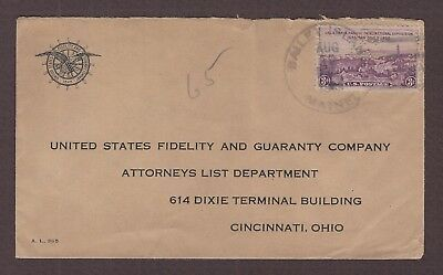 mjstampshobby 1935 US United States Fidelity and Guaranty Vintage Cover Used