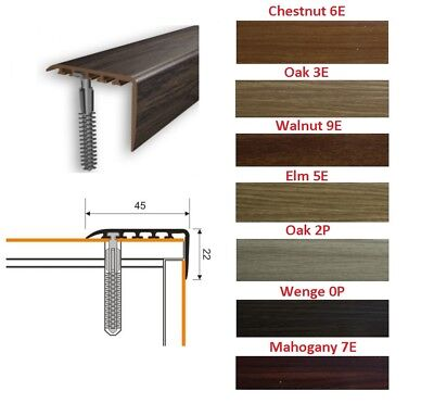 Stair Nosing Edge Trim Step Nose Floor Edging For Carpet Laminate Floor-1m 22x45