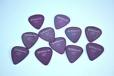 LOT 11 D'ADDARIO Solid Standard Guitar Picks HEAVY Purple Bass Mandolin