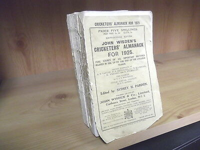 1925 John Wisden's Cricketers' Almanack