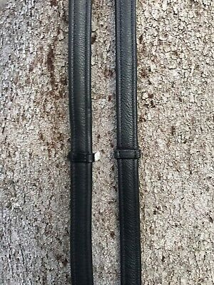 Black leather reins- soft, padded nappa leather (NEW)