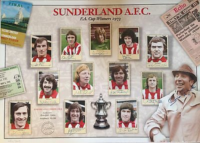 Sunderland 1973 Fa Cup-Winners Signed Limited Edition Print