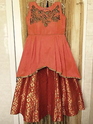 Indian Bollywood Ethnic Party Wear Top And Skirt - Lehngha/Choli