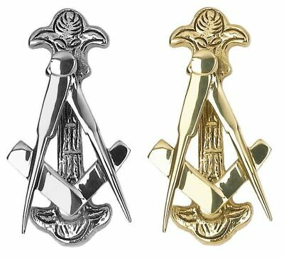 Polished Brass or Chrome Masonic Door Knocker Door Furniture - 120mm