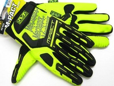 MECHANIX WEAR Medium Hi-Viz Yellow M-PACT Multipurpose Work Gloves! SMP-91-009