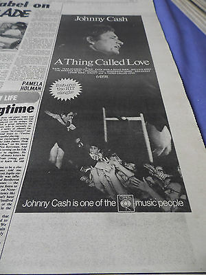 "Johnny Cash ""a Thing Called Love"" Album Advert From 1972"