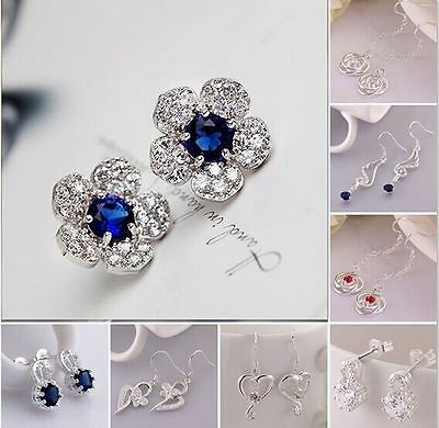2017 New Hot Jewelry 925Silver Fashion beautiful Earring Birthday/Xmas Gift