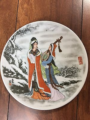 Chinese hand Painted plate, Arts And Crafts Master Zhao Huimin Plate