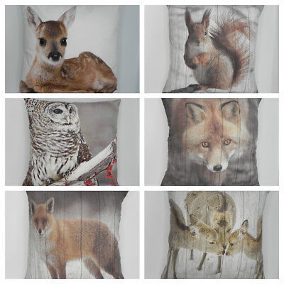 CUTE&CUDDLY SUPER SOFT ANIMAL CUSHION COVERS IN FAUX SUEDE 45X45cms