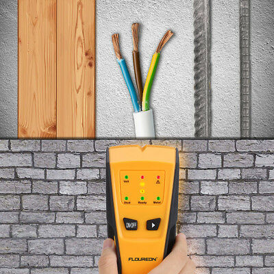 Metal AC Live Wire Stud Finder Detector LED Light Beep Indicate Auto Calibration