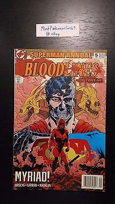 Superman Bloodlines Annual - # 5 1993 DC Comic Book - Includes Bag/Board