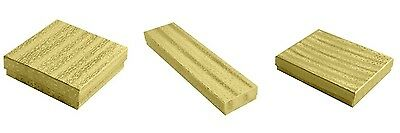 300 Assorted Gold Cotton Filled Jewelry Packaging Gift Boxes 3 Large Sizes