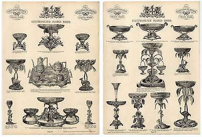 ELECTRO-SILVER PLATED GOODS-Silber - Katalog-Holzstich 1890