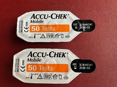 Accu-Chek Mobile  Cassettes 100 Tests   Cheapest On Ebay * FREE POST  LONG DATES