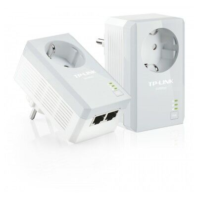 AV500-Powerline-Adapter mit Frontsteckdose TP-Link TL-PA4020PKIT Kit 2-LAN-Ports
