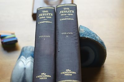 The Jesuits 1534-1921 Volume l & ll 1st Edition T J Campbell