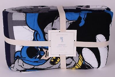 NWT Pottery Barn Kids Batman Cityscape twin quilt