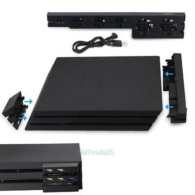 Cooling Fan and 5 Ports HUB for PlayStation 4 Pro PS4 Pro Gaming Console Devices