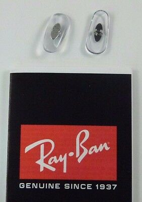 Authentic RayBan Clip Crimp On Replacement Nose Pads RB 3016 3025 17mm Clear