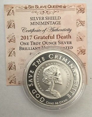 1oz Silver Shield God Save The Criminal Elite With COA