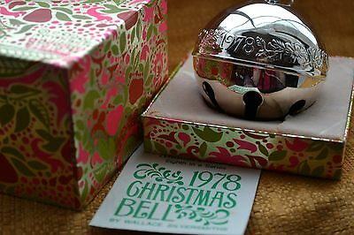 1978 Silver Plate Wallace Christmas Bell With Card