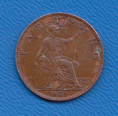 GB Farthing 1929 KGV  Collectable.