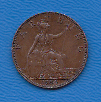GB Farthing 1934 KGV  Collectable.
