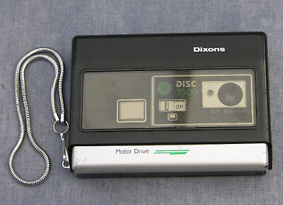 1980s Vintage Dixons Disc 3500 Camera in Soft Leather Pouch, for Display