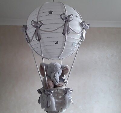 Hot Air Balloon Light Shade with Cute little Elephant   Made to Order