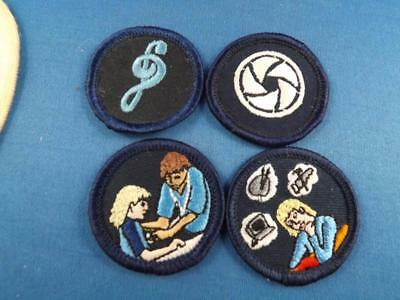 Girl Guides Patch Lot 4 Merit Badge Music Sports Ball Education Collector