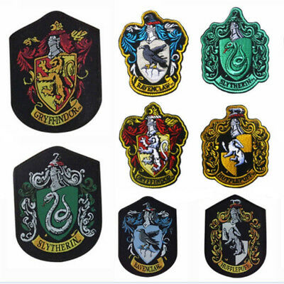 Harry potter Sew on patch Gryffindor slytherin hufflepuff ravenclaw house badge