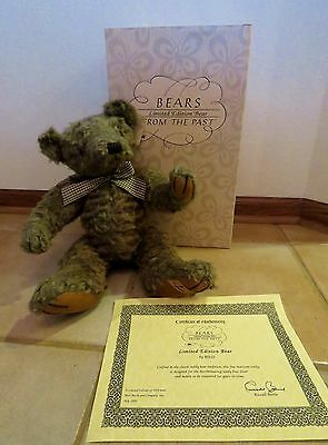 Rare Retired 1995 Limited Edition Le001 Russ Berrie Bear - Bears Of The Past
