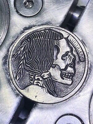 REAL Hobo Nickel Coin Art Death Brave Hand Carved