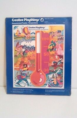 Creative Playthings Puzzle Measure Thermometer Temperature 15 Large Pieces