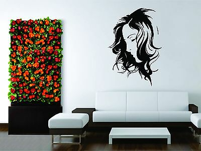Wall Mural Vinyl Decal Decor Sticker Girl Woman Hair Salon Barber Face