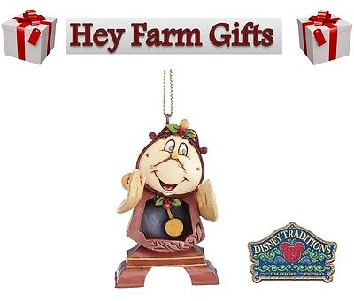 Disney Traditions Beauty & The Beast Cogsworth Hanging Christmas Tree Decoration