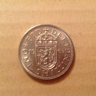 1963 British scottish shilling uncirculated
