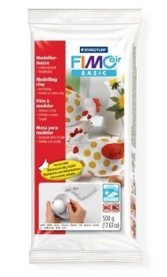 STAEDTLER FIMO AIR BASIC AIR DRYING MODELLING CLAY WHITE 500g