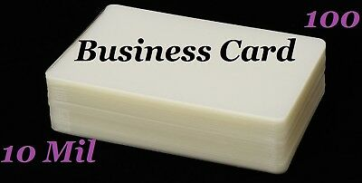 Business Card 100/bx Laminating Laminator Pouches Sheets 2-1/4 x 3-3/4 10 Mil