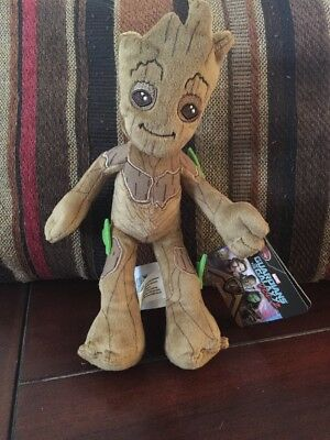 Plush Baby Groot Guardians of the Galaxy Volume 2 Disney Store Authentic