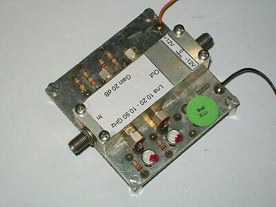 10 ghz X band amateurfunk receiver amplifier 25 db empfaenger verstaerker