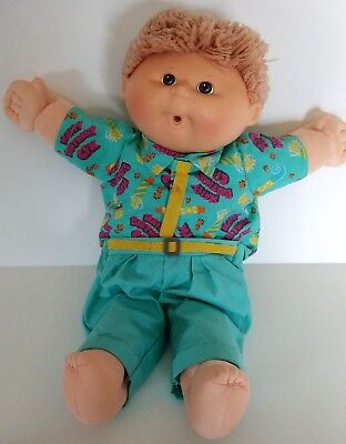 Blond Hair Brown Eyes 1st Ed Cabbage Patch Boy Doll by Hasbro 1990