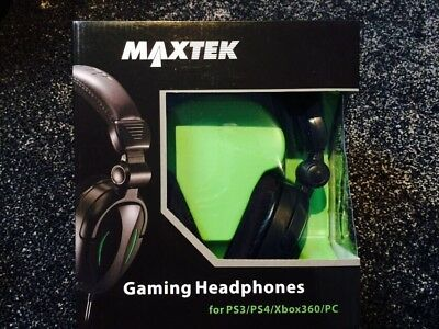 Maxtek Gaming Headphones for PS3/PS4/Xbox360/PC - Green